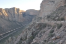 ... the side of the canyon all the way to the bottom before coming all the way back.