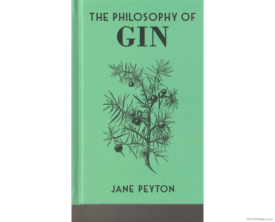 The front cover of The Philosophy of Gin...