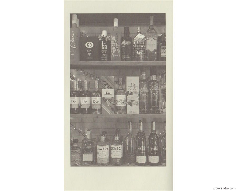 I'll leave you with a well-stocked shelf from a cocktail bar, the modern-day gin palace.