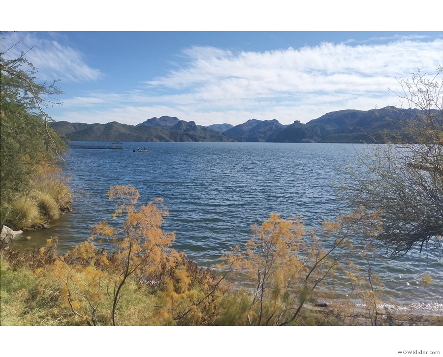 First stop, Saguaro Lake, the fourth of four reservoirs on the Salt River.