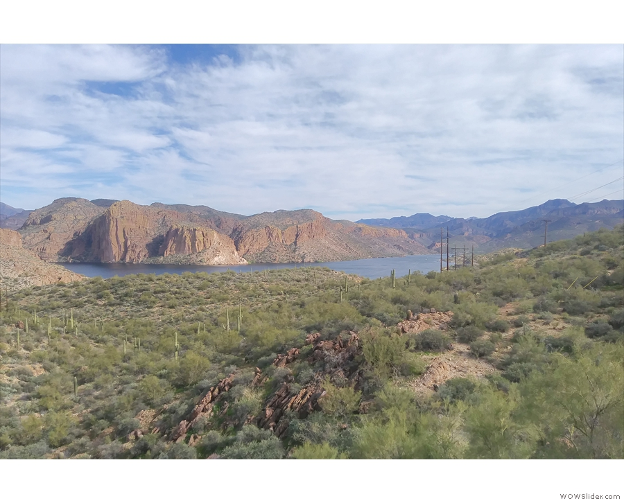 Next stop (after quite a bit of amazing mountain scenery) is Canyon Lake Vista.