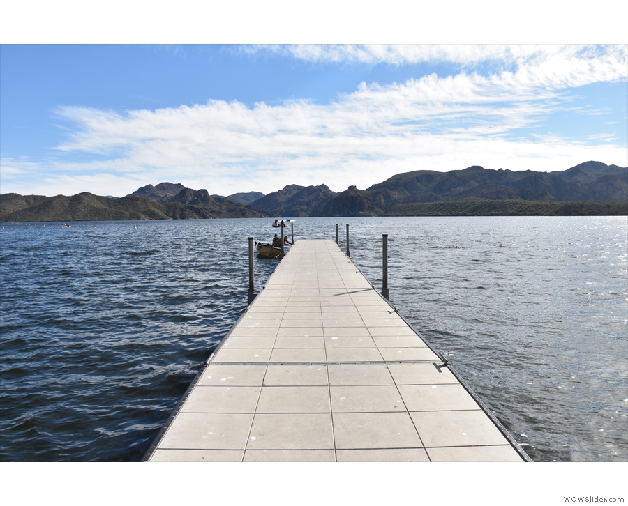 ... where I found this long pier (one of the several on the lake).