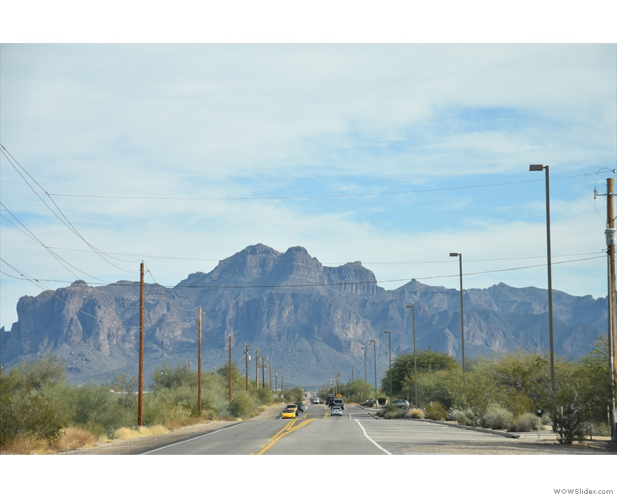 ... the Superstition Mountains along Lost Dutchman Boulevard.
