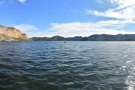 This is a panoramic view from the end of the pier, which looks...