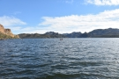 ... straight across the lake to the southeastern corner where the Salt River flows in.