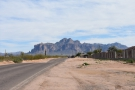 The road runs along the northern edge of Apache Junction..