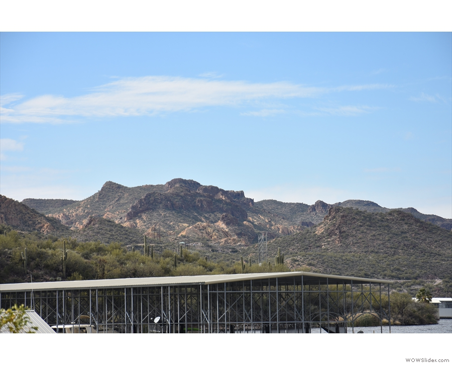 Looking southwest and, if you look closely above the roofline, there's Canyon Lake Vista!