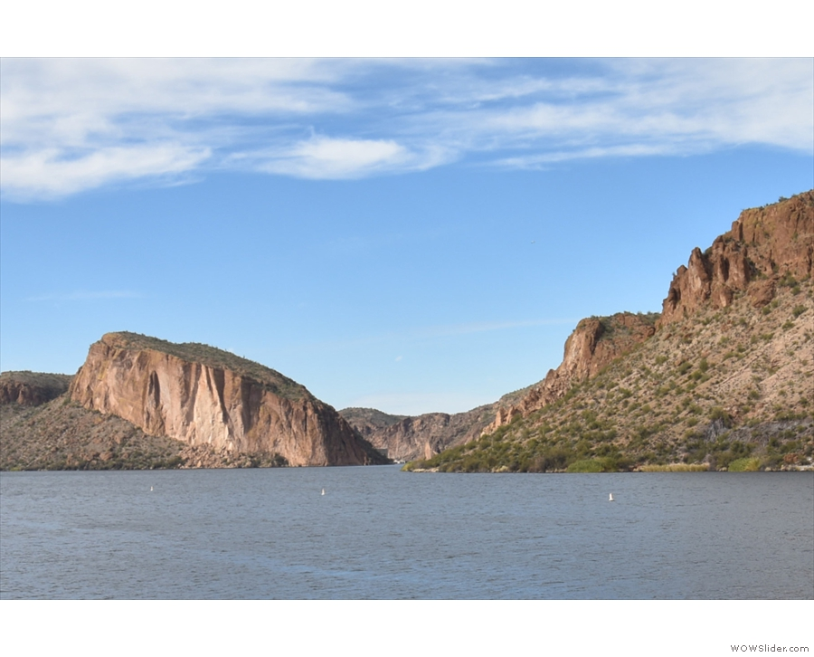 From here, I could see all the way down the lake to where the Salt River flows out.