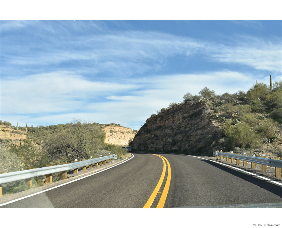 Then it was back on the road, driving through Tortilla Flat and climbing into the mountains.