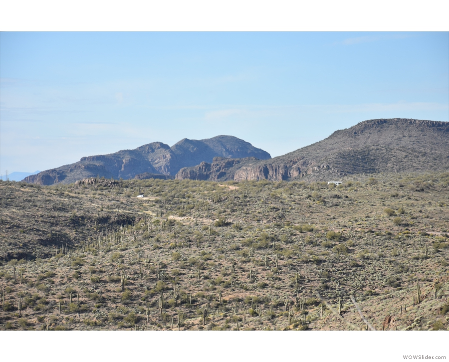 And this, I think, is looking northeast. I'm pretty sure that dirt track isn't the Apache Trail.