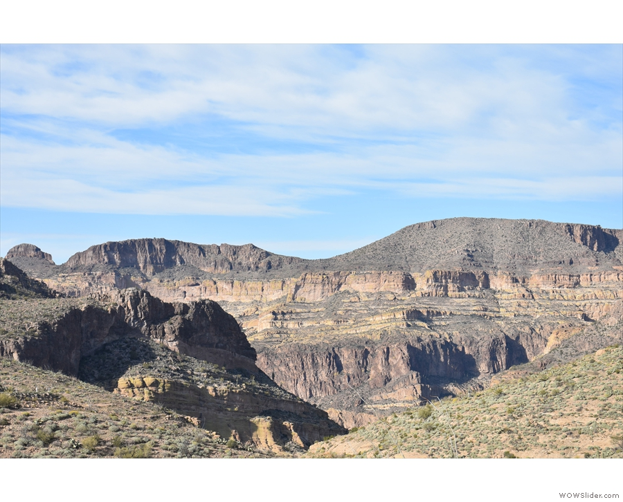 ... as it cuts its way northwest through the mountains on its way to the Salt River.