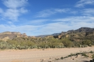 ... without the car in the way! I'm looking over a canyon to where the Apache Trail...