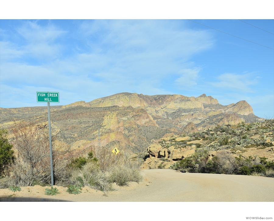 My next (brief) stop was Fish Creek Hill, from where the Apache Trail...