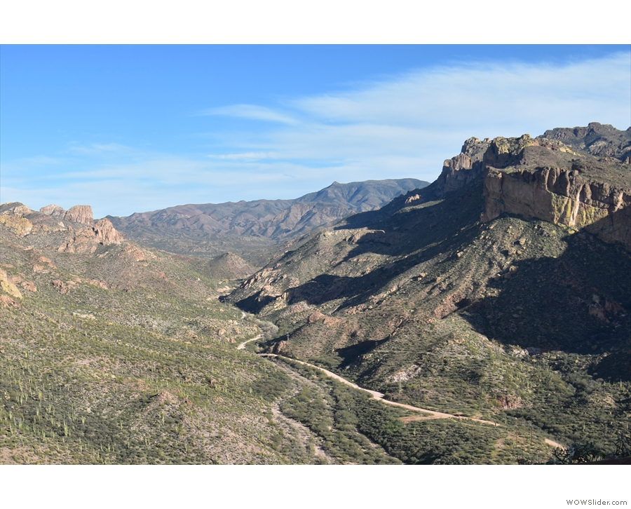 ...  at the top of Fish Creek Canyon, where views like this open out before you!