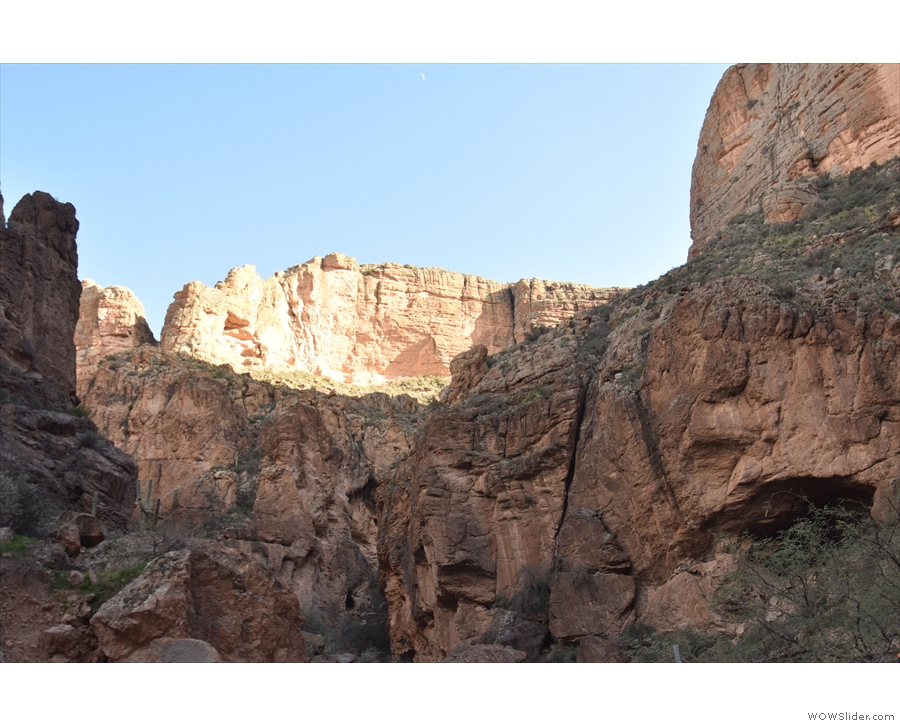 The walls of the canyon tower above it all...