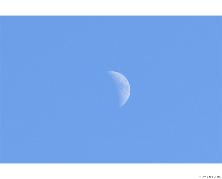 ... you can see the moon.