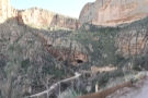 To get there, the road descends all the way to a hairpin bend at the canyon's bottom...