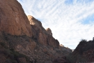 ... Apache Trail as it descends the far (western) side of Fish Creek Canyon.