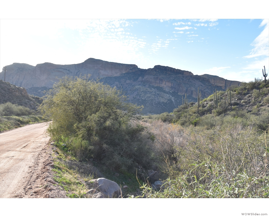 ... enters the top of Fish Creek Canyon, before starting its descent down the cliff face!
