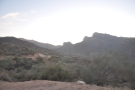 Looking back, you can see the Apache Trail, plus there's an unpaved road leading off...