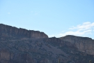 ... a small niche at the top of the mountain. Looking closely, it's where the Apache Trail...