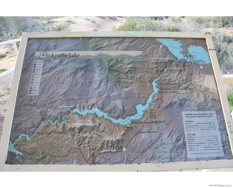 ... with some handy information boards, like this one with a map of the area...