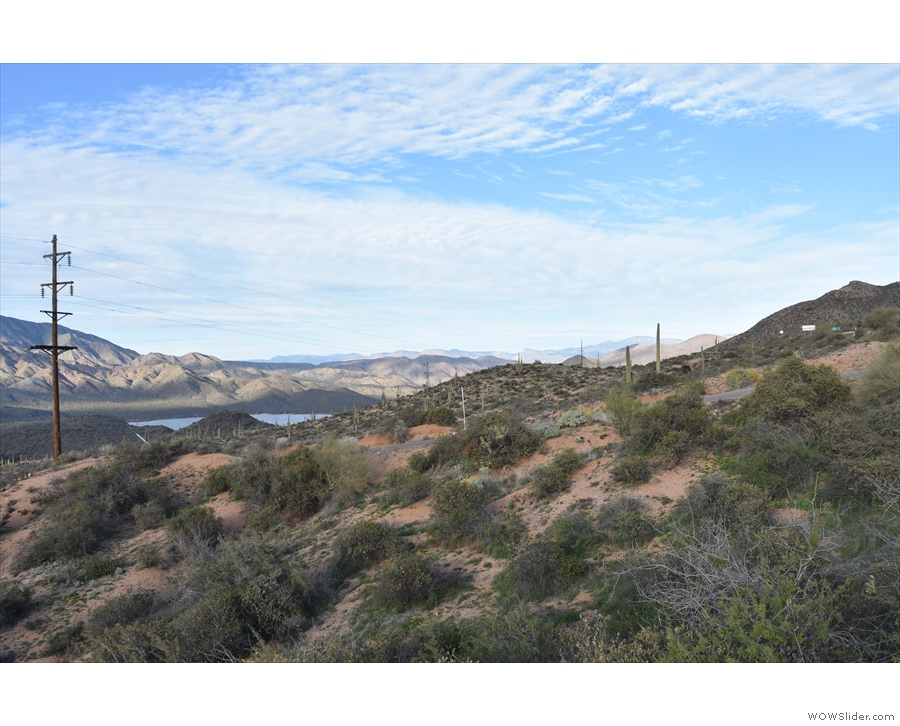 This, meanwhile, is the view upstream (you can see the Apache Trail on the right).