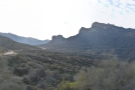 ... that I've come, with the Apache Trail disappearing off towards the mountains.