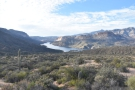 ... which runs down the side of the mountain to the Apache Lake Marina and Resort.