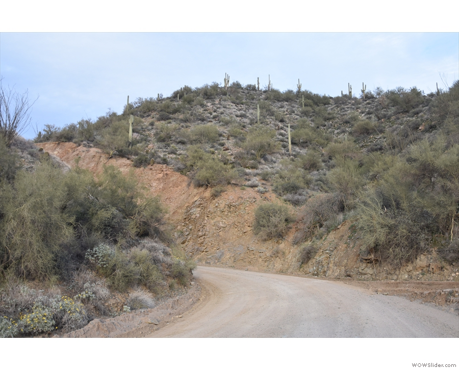 Carrying on, the road continues to climb with plenty of blind bends like this one, and with...