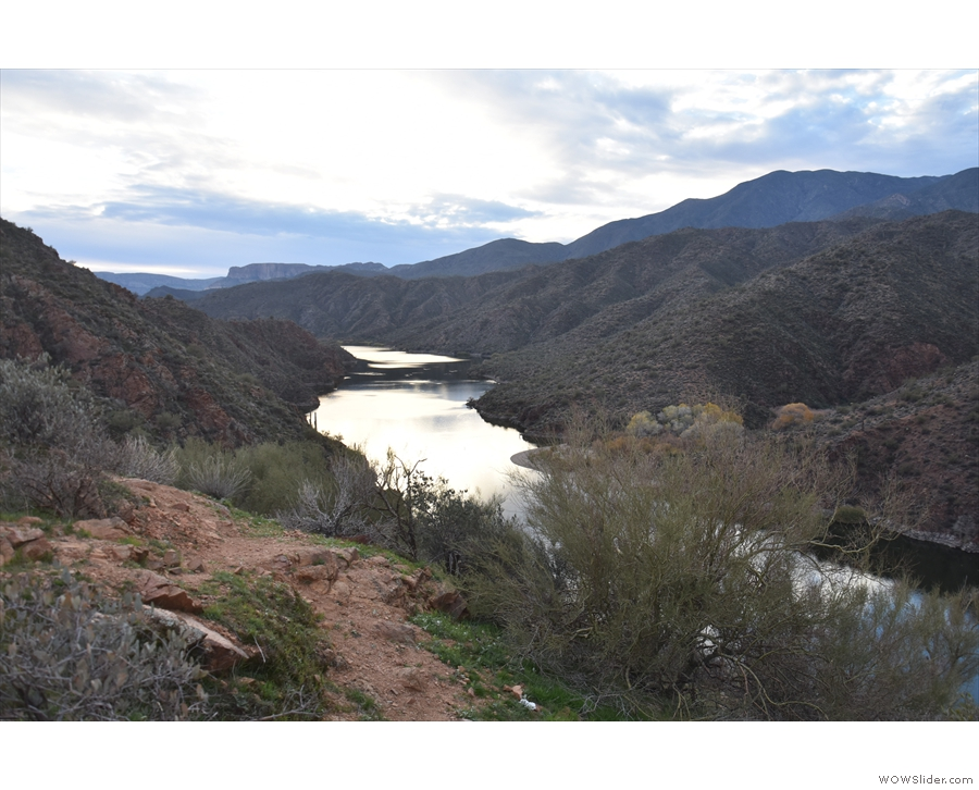 ... and the view downstream in the direction of Apache Lake.