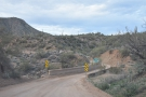 After plenty of twists and turns, the Apache Trail crosses Pine Creek...