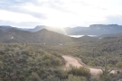 ... views back the way you've come, the lake visible beyond Pine Creek, where you can...