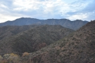 Looking up, this is the view over Buckhorn Creek, with the mountains beyond.