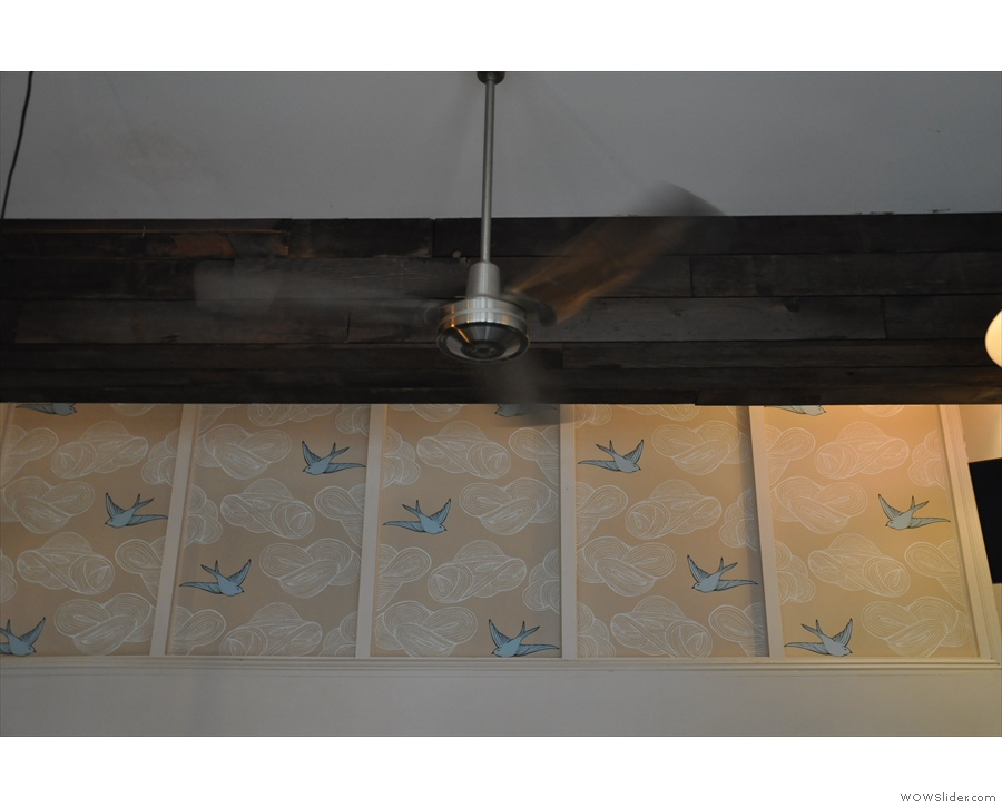 There'll be bluebirds over... the counter at the back... Nice wallpaper!