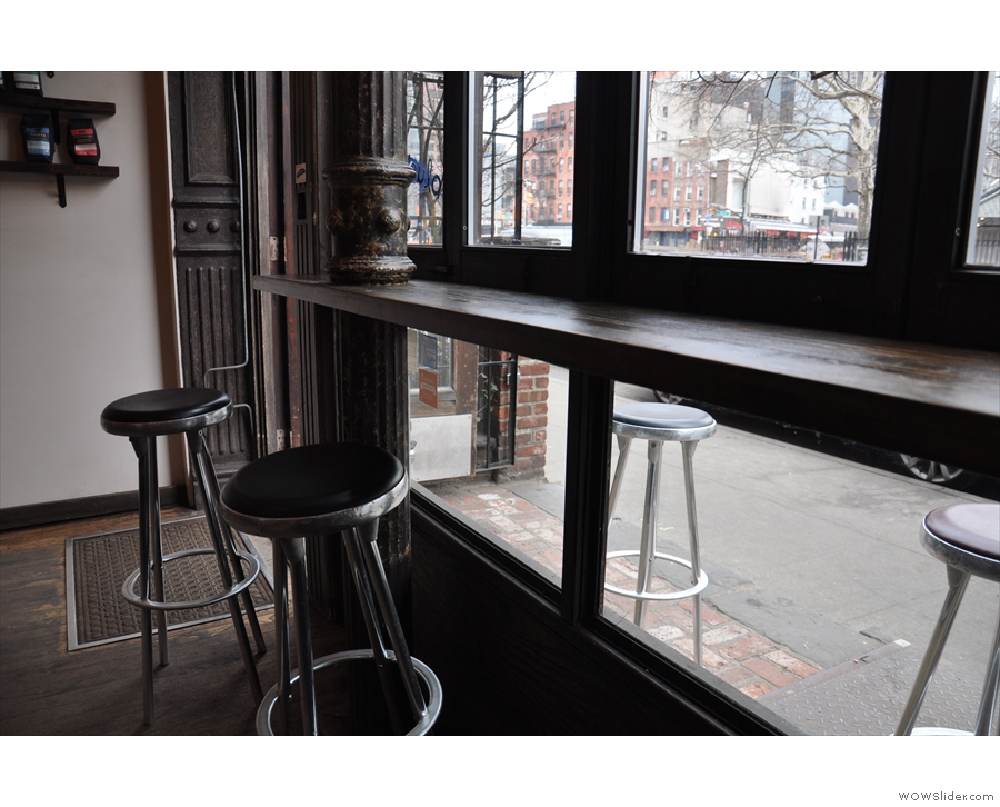 The bar in the window.