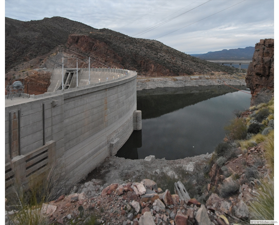 ... I got my first look at the front of the dam. What I hadn't realised was that there's an...