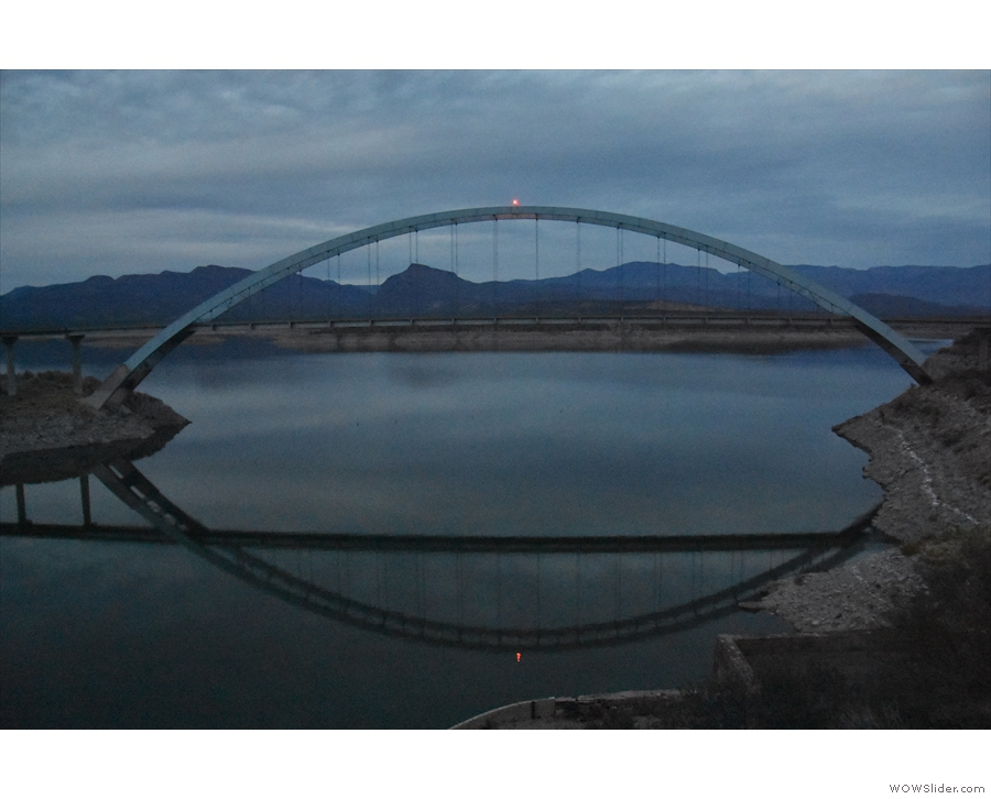 ... which carries SR 188 across the Salt River. I'll leave you here in the gathering gloom.