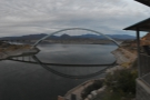 ... its height was raised 23m in 1996. Looking the other way is the Roosevelt Lake Bridge...