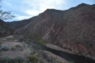 ... the Salt River flows back the way I've come. You can see the Apache Trail on the left.