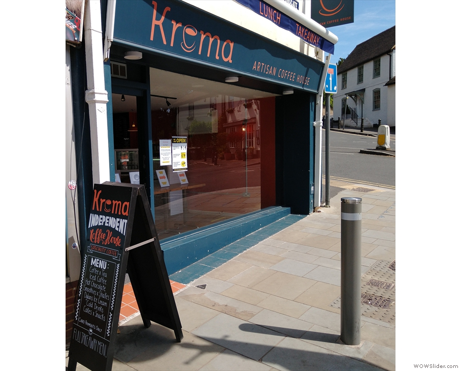 Staying on Tunsgate, Krema Coffee had been offering...