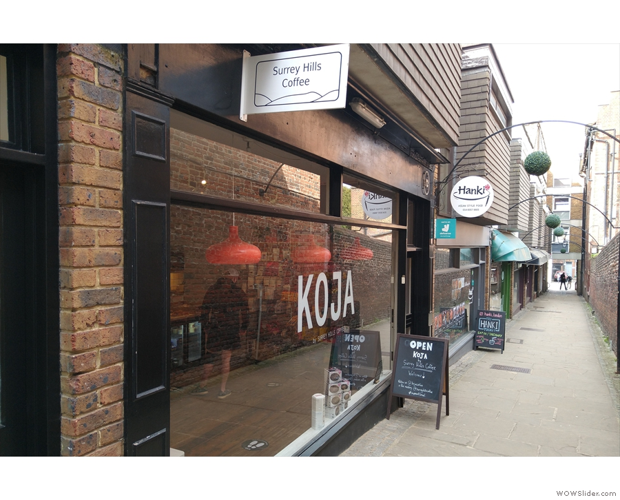 Moving over to Jeffries Passage, here's Koja, the successor to Surrey Hills Coffee...