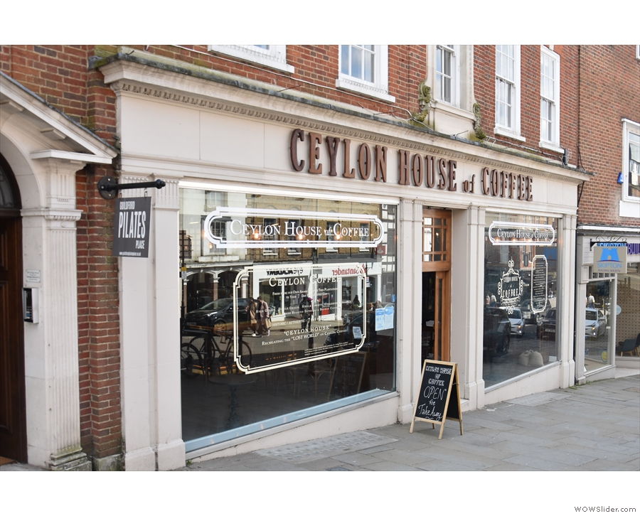 Another only offering takeaway at the moment is the Ceylon House of Coffee.