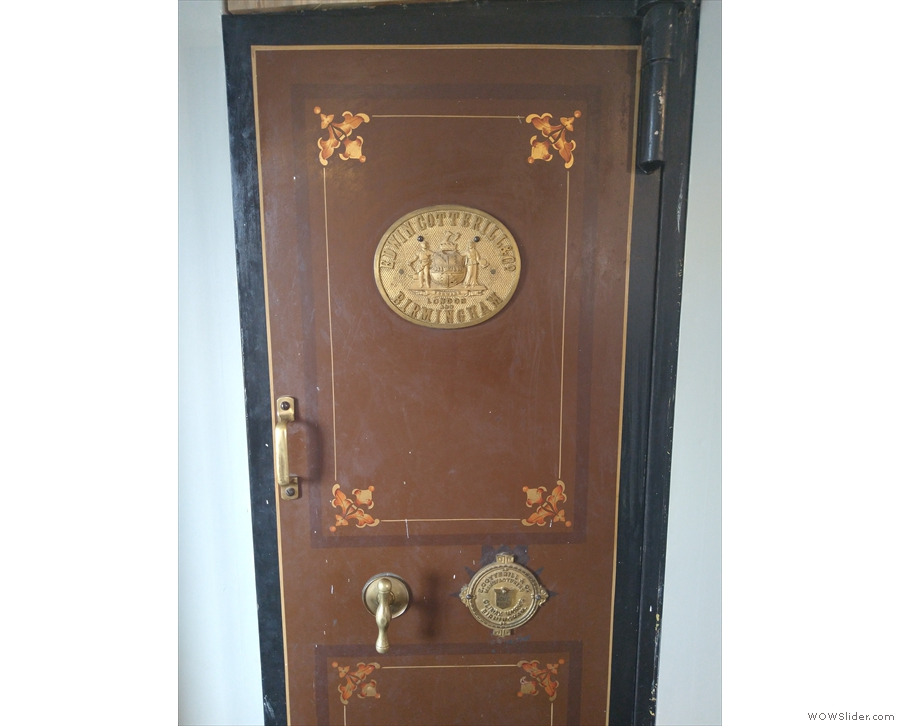This is also worth admiring. It looks like the door to a safe or bank vault to me.