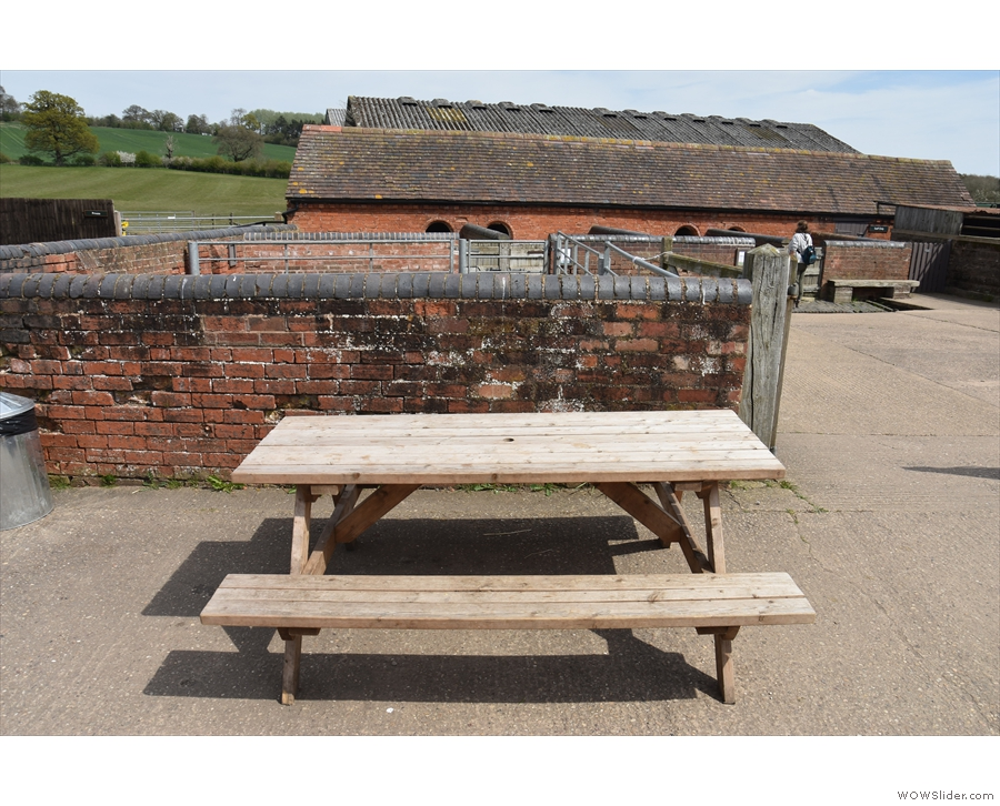 ... this four-person picnic table and, beyond that...