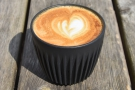 I had a flat white in my HuskeeCup (Espresso Farm is only using takeaway cups right now).