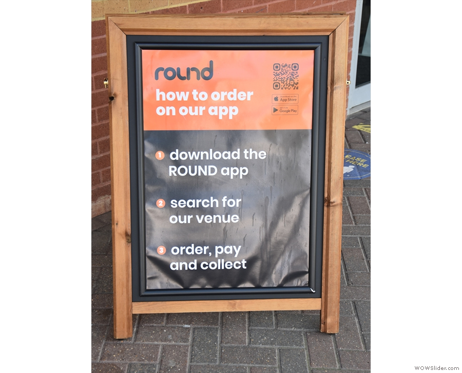 There's also this A-board, which you need to pay attention to. Order on the app...