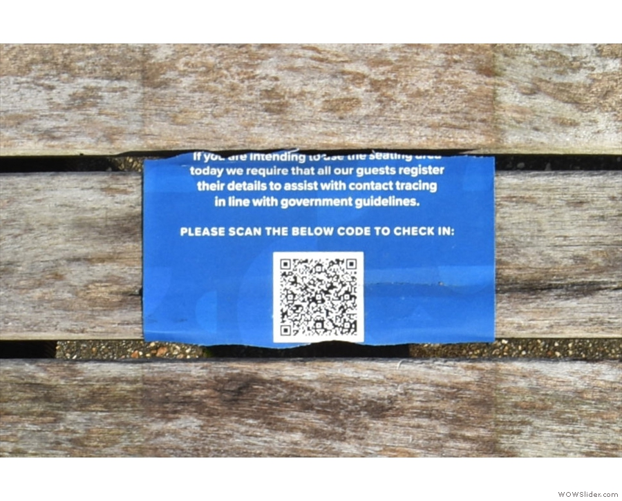 ... and providing the obligatory QR Code for the NHS app. Unless you're staff/a student...