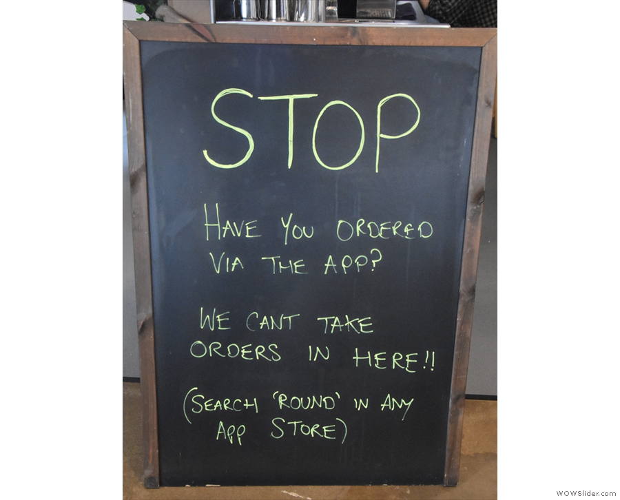 ... this A-board. See, I told you there was no reason to go inside.