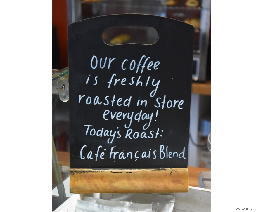 Turning to coffee, The Old Roastery Coffee Shop uses the Café Français blend...